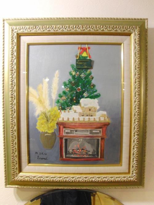 油絵 ~ クリスマスの風景 ~_e0222340_1823812.jpg