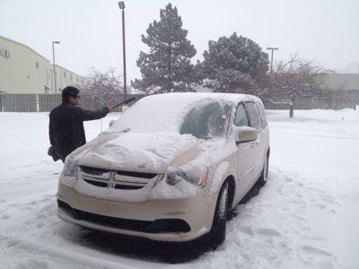 雪が積もってたので......_c0144020_8534996.jpg