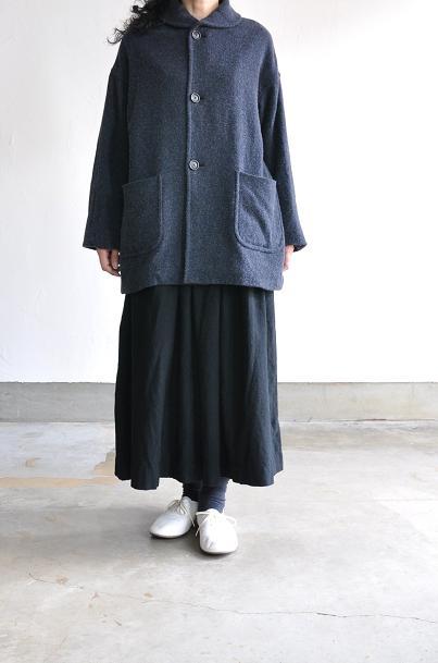 jujudhau/ズーズーダウ GATHER SKIRT(W/C BLACK)