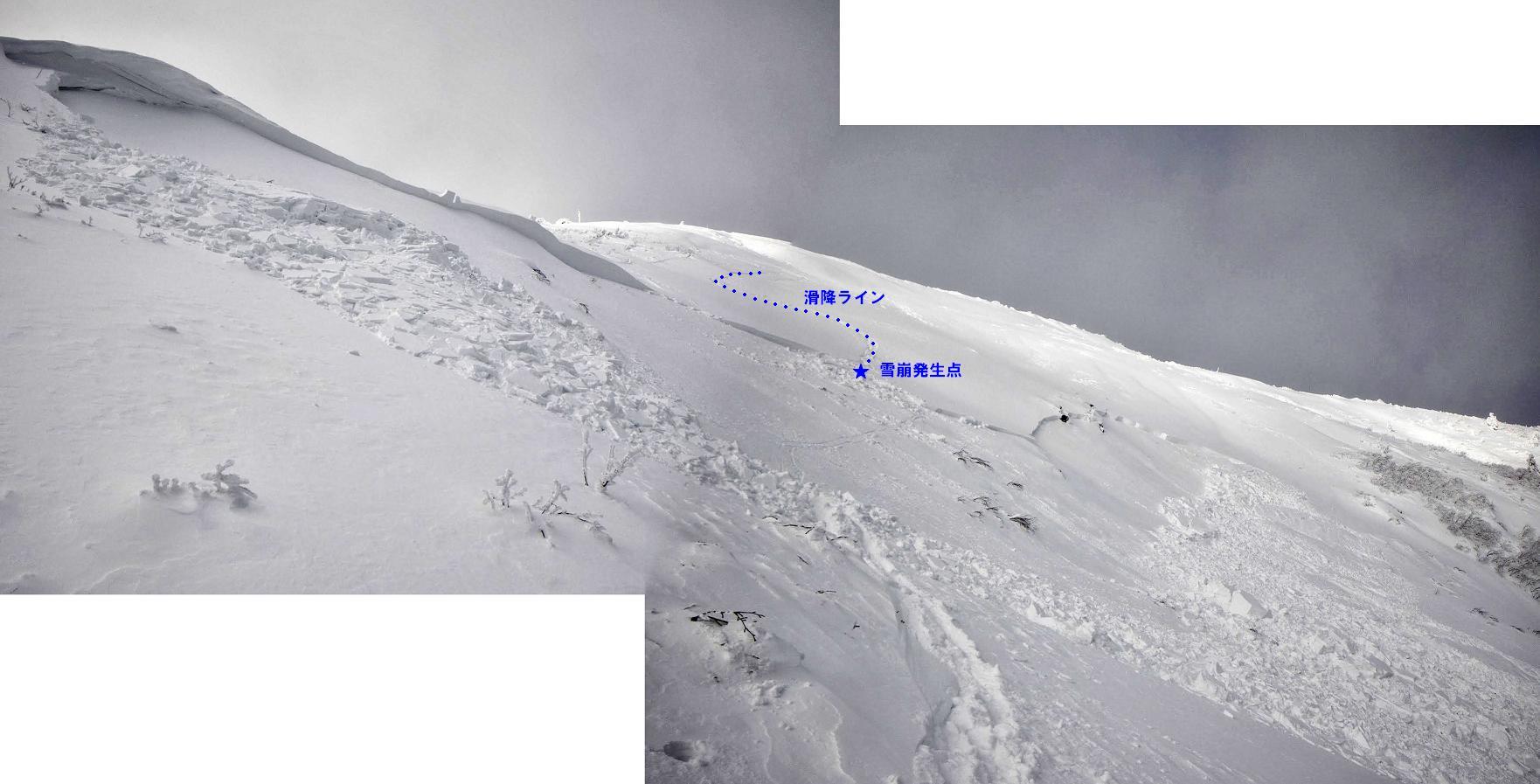 刈田岳井戸沢の雪崩について_f0170180_1932192.jpg