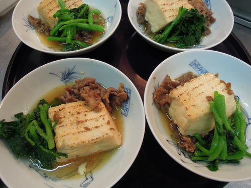 焼き豆腐と牛肉すき焼き風クレソンを添えて_e0116211_96224.jpg