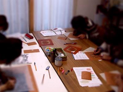 紅型教室で型紙作り _a0079315_9541996.jpg