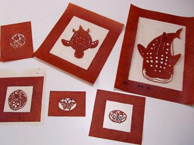 紅型教室で型紙作り _a0079315_9552516.jpg