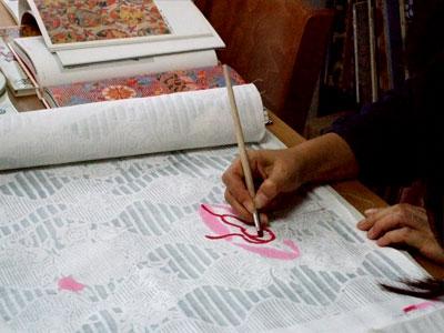 紅型教室で型紙作り _a0079315_9555316.jpg