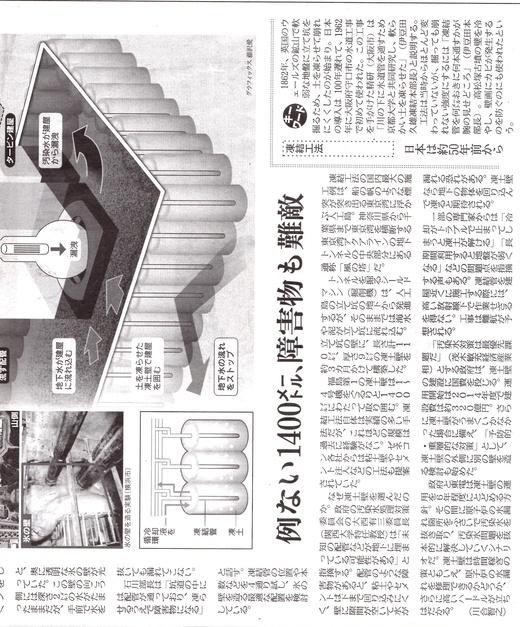 はたして、有効か?/原発の凍土壁 壮大な実験 日経新聞_b0242956_022615.jpg