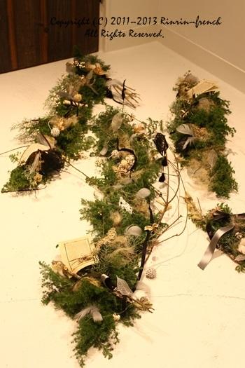 クリスマスガーランド&リース 2013_e0237680_1092739.jpg