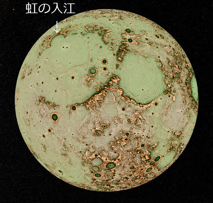 月探査機「かぐや」のデータを使用した月面赤色立体図_e0089232_19354443.jpg
