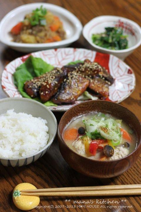 チキンのトマト煮 ☆ 一汁三菜♪_c0139375_12592115.jpg