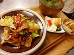 12/20晩ごはん:回鍋肉(ホイコーロー)_a0116684_19151286.jpg