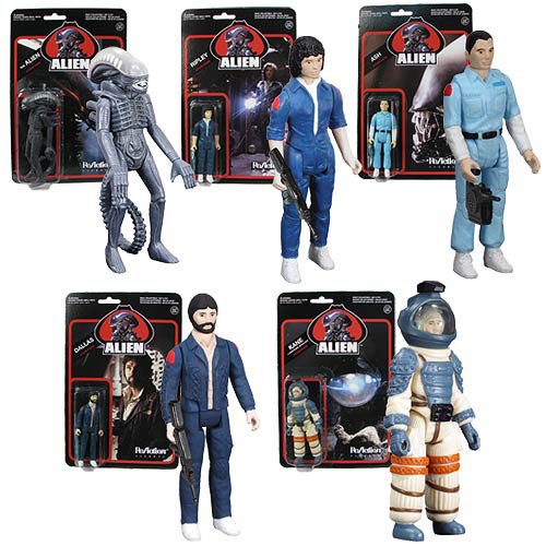 Alien 3.75-Inch ReAction Figures full set of all 5 characters_e0118156_11394043.jpg