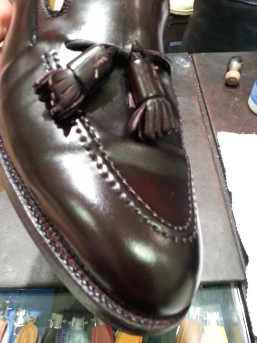 水で洗ったコードバン靴の仕上げです~動画つき~_b0226322_14321842.jpg