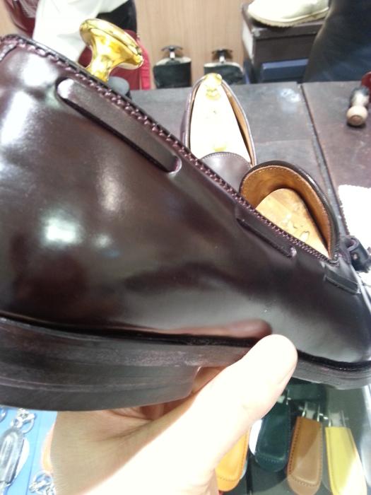 水で洗ったコードバン靴の仕上げです~動画つき~_b0226322_14323342.jpg