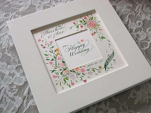 結婚のお祝いに プレゼントボード♪_b0105897_2561728.jpg