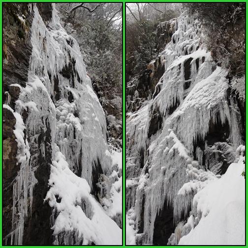 雪の英彦山・四王寺の滝_e0164643_17172425.jpg