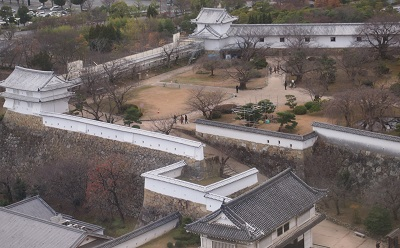 師走の桜の白鷺城_a0131787_1111412.jpg