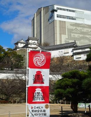 師走の桜の白鷺城_a0131787_11134789.jpg