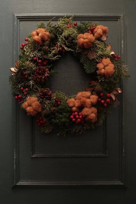 12月定期レッスン クリスマスリース2013_a0042928_21453152.jpg