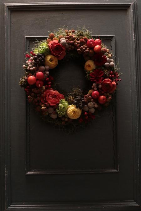 12月定期レッスン クリスマスリース2013_a0042928_21481259.jpg