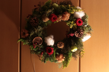 12月定期レッスン クリスマスリース2013_a0042928_2152297.jpg