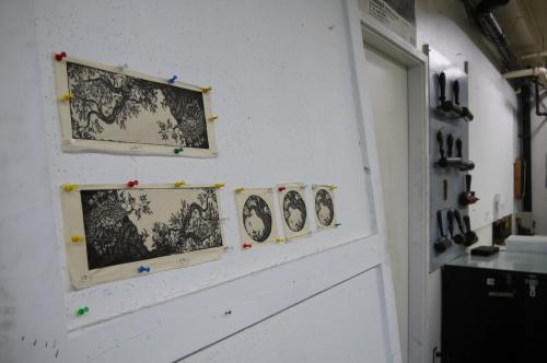グランビルアイランドで日本人銅版画作家の作品と出会う♪_d0129786_1519714.jpg