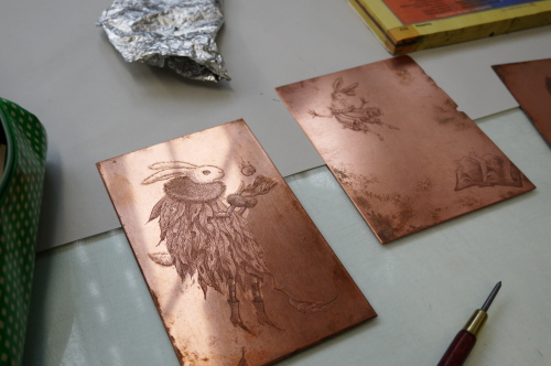 グランビルアイランドで日本人銅版画作家の作品と出会う♪_d0129786_15231730.jpg