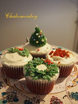 クリスマスカップケーキデコレーションレッスン_f0238789_2028242.jpg