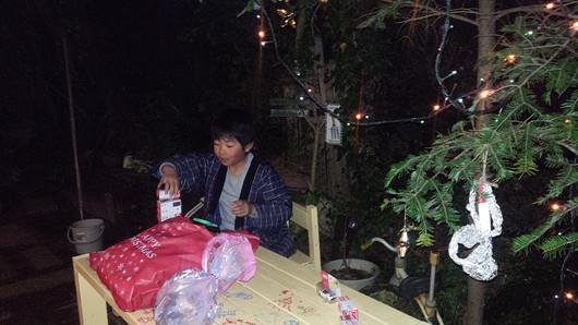 息子作クリスマスケーキ_b0171098_944048.jpg