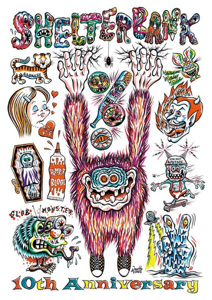 "Little chop design \""Knuckle\"" SHELTERBANK 10th Anniversary Poster_c0083911_20255771.jpg"