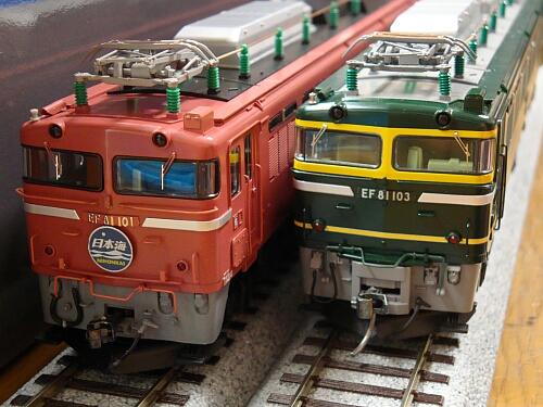 まずは機関車から:トミックス EF81形トワイライト色_f0037227_0311355.jpg
