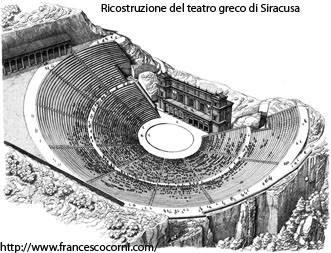 建設当時のシラクーサギリシャ劇場 バゥ_d0084229_11492547.jpg
