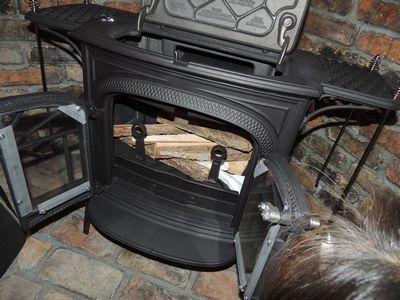 クリスマスイブに薪ストーブの火入れをしました_c0274374_1718571.jpg