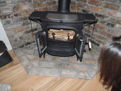 クリスマスイブに薪ストーブの火入れをしました_c0274374_17193424.jpg