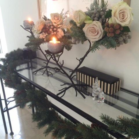 White & Gold でクリスマスデコレーション_f0083294_20584961.jpg