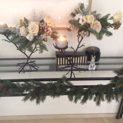 White & Gold でクリスマスデコレーション_f0083294_22334579.jpg