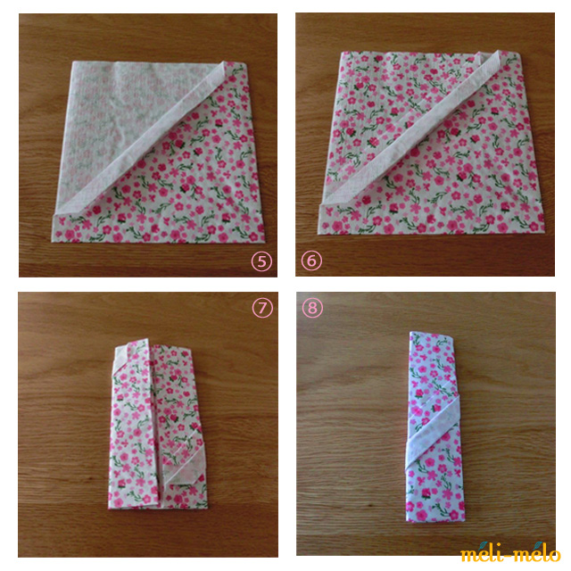 クリスマス 折り紙 紙ナプキン 折り方 : kwrapping.exblog.jp