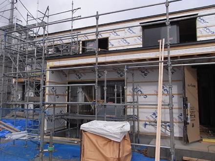 『プールサイドの家』 内装工事が進行中。_e0197748_1623595.jpg