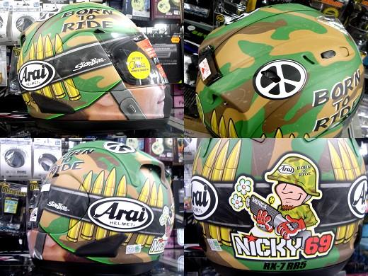 ニッキー・ヘイデンのレプリカヘルメット入荷!_b0163075_8161232.jpg