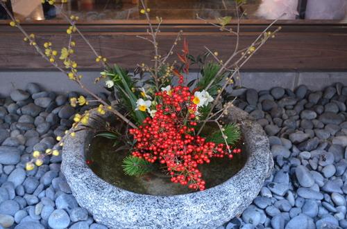 2013年度最後の華道教室! お正月用の生花と自由花_d0230676_17233847.jpg