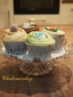 クリスマスカップケーキ_f0238789_2234172.jpg