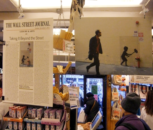NYの老舗スーパーのレジ前に吊るされていた新聞記事の拡大コピー_b0007805_11281048.jpg