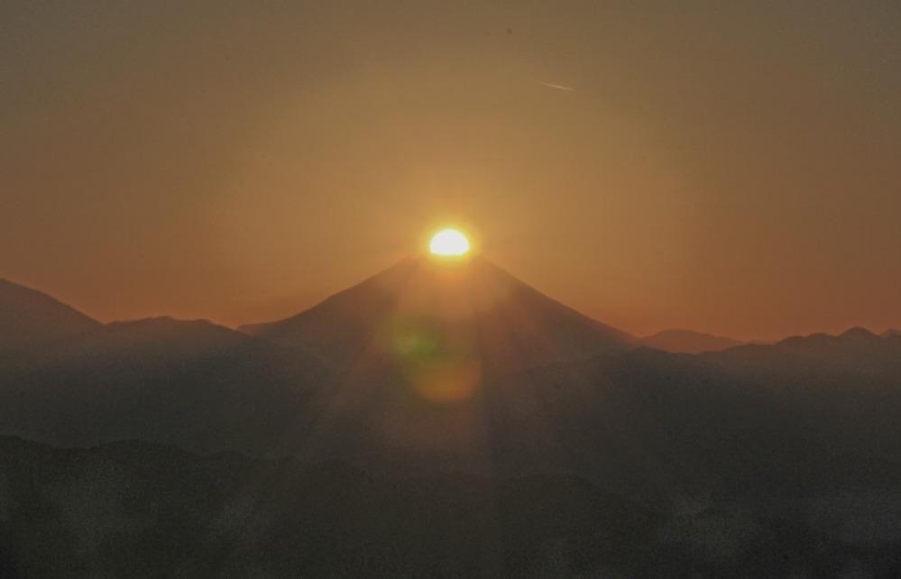 八王子市高尾町ダイヤモンド富士       2013年12月25日撮影_a0150260_2203749.jpg