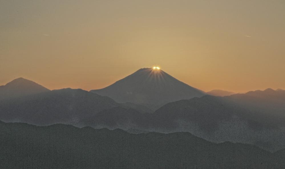 八王子市高尾町ダイヤモンド富士       2013年12月25日撮影_a0150260_2224876.jpg