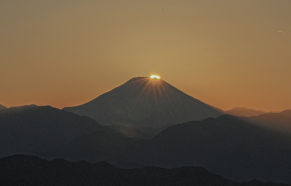 八王子市高尾町ダイヤモンド富士       2013年12月25日撮影_a0150260_222587.jpg