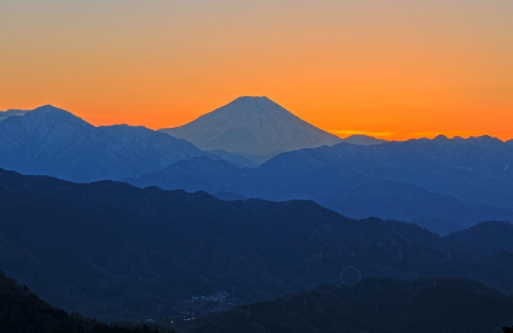 八王子市高尾町ダイヤモンド富士       2013年12月25日撮影_a0150260_2234517.jpg