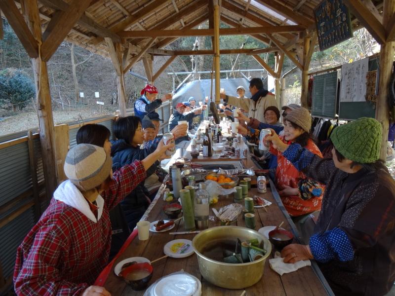 孝子の森で望年会_c0108460_23482581.jpg