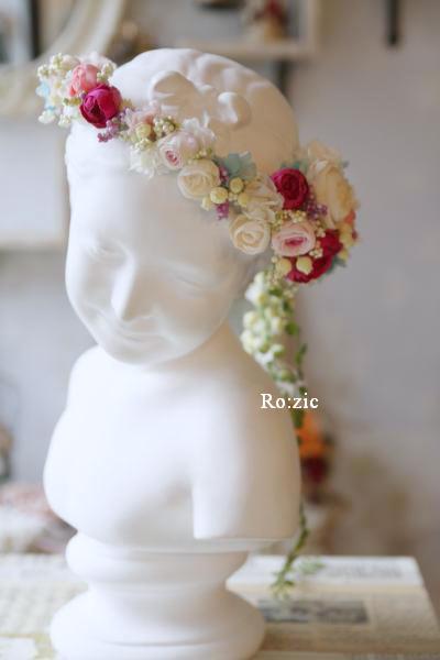 2013.12.30 安室奈美恵さんの花冠のイメージでアシンメトリーに_b0120777_16432948.jpg