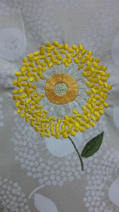 花柄生地を、そのままデータ刺繍しちゃいました♪_c0316026_21200925.jpg