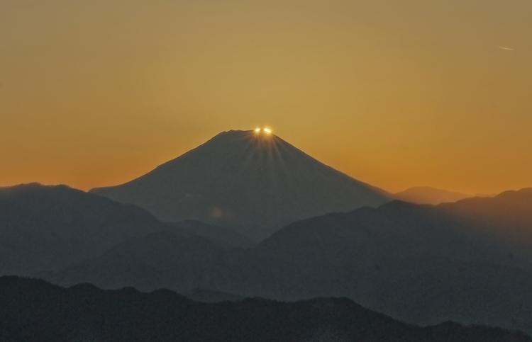 八王子市高尾町ダイヤモンド富士       2013年12月25日撮影_a0150260_1512688.jpg