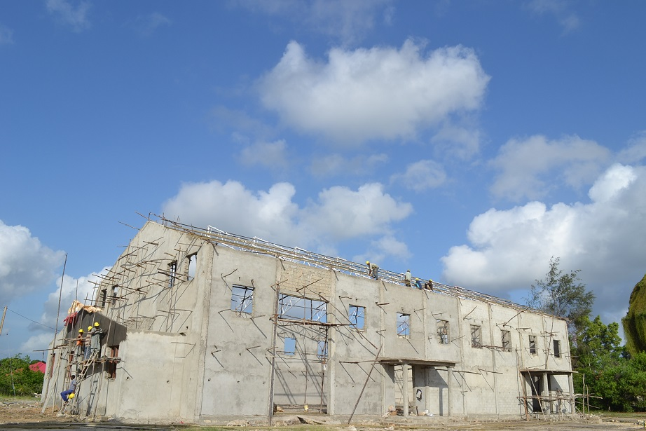 The construction of Pemba Budokan -15- inspection by Ambassador~ペンバ武道館建設・日本大使の視察_a0088841_22484654.jpg