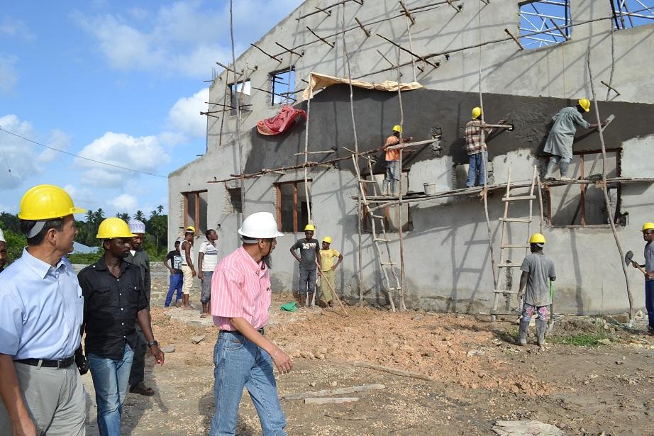 The construction of Pemba Budokan -15- inspection by Ambassador~ペンバ武道館建設・日本大使の視察_a0088841_22521382.jpg